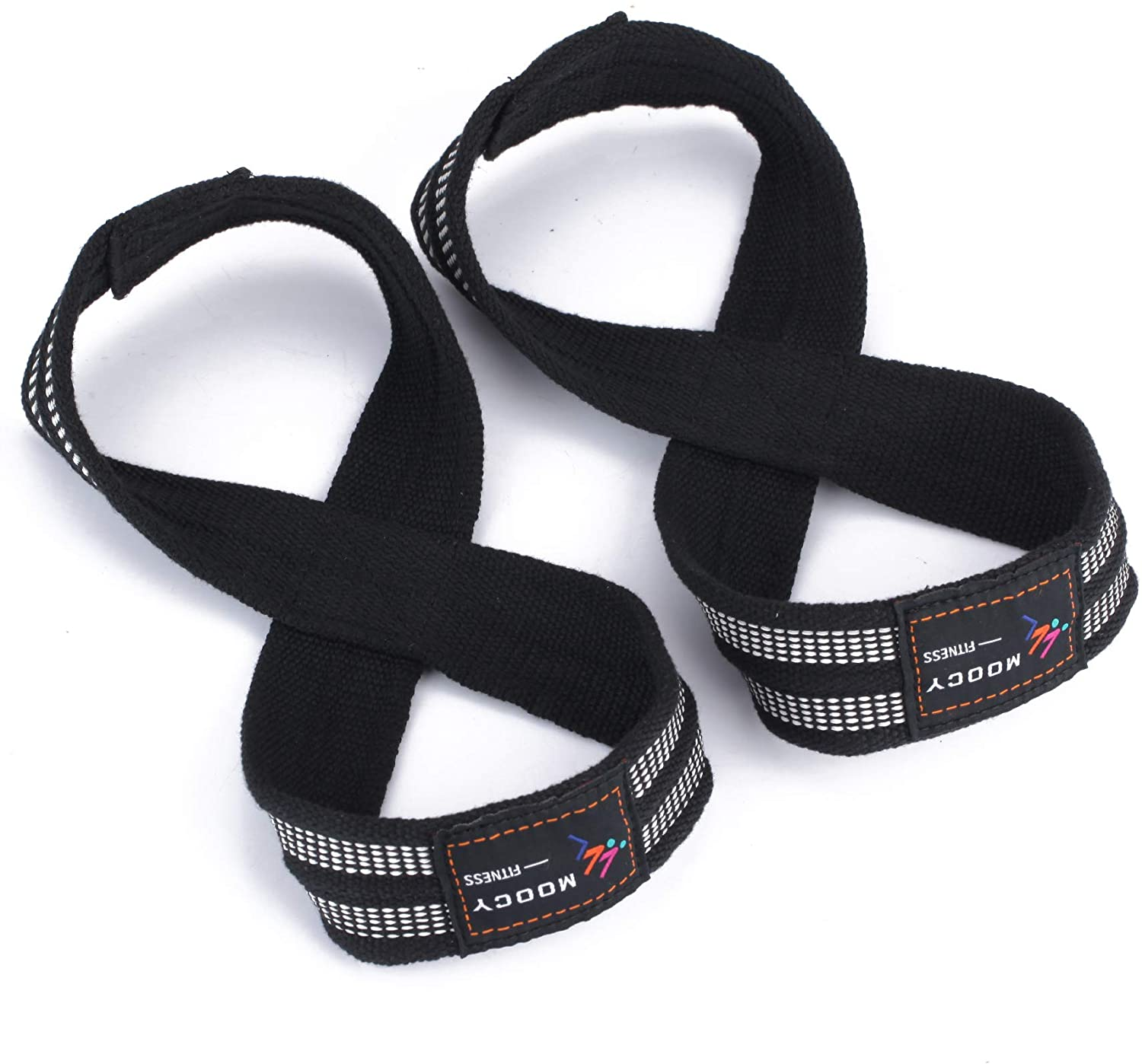 Ikerall Padded Figure 8 Lifting Straps - Weightlifting Straps - Figure 8 Straps - Wrist Straps for Men, Women, Crossfit, Weight Lifting, Deadlifts
