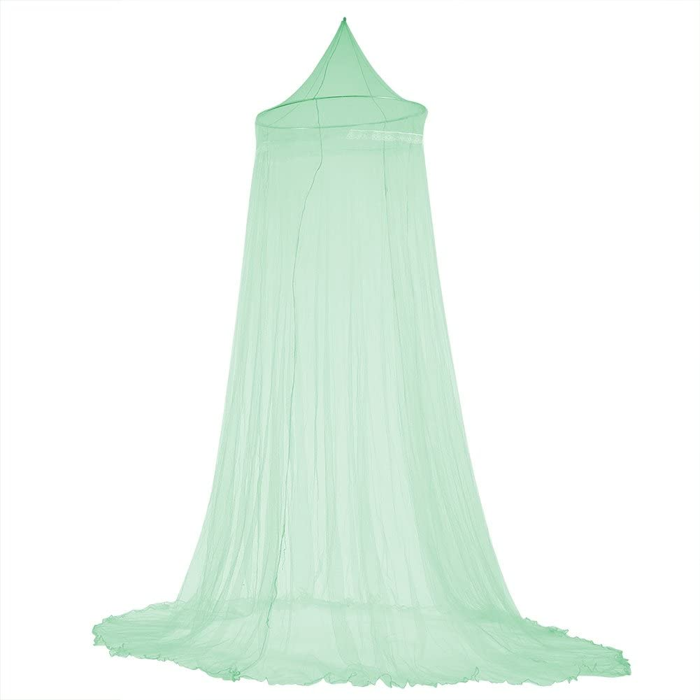 Bed Curtain, Mosquito Net, Elegant Lace Princess Kids Bed Canopy Curtain Mosquito Netting for Girls Room Bedding(Green)