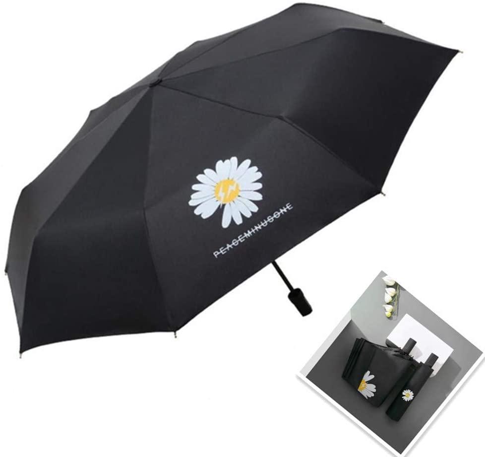 Zhuoman Travel Umbrella, Compact Folding Reverse Umbrella,-One buttone for Auto Open and Close Umbrella Windproof Folding Umbrella Black Umbrella Compact Black Compact Umbrella