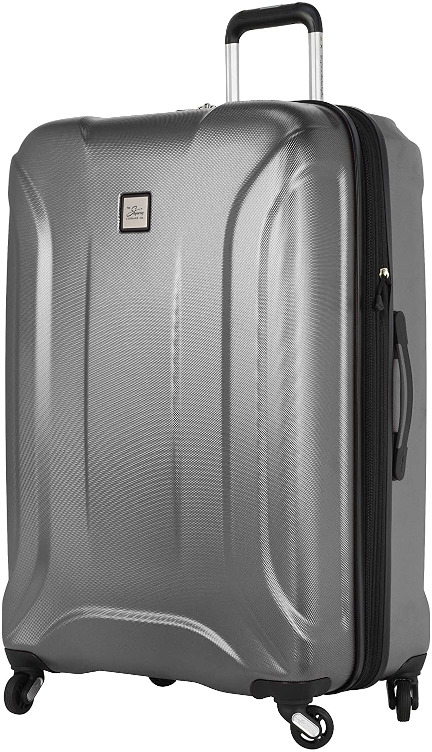 Skyway Nimbus 3.0 Hardside 4-Wheel Luggage Spinner Collection (Silver, Checked-Large 28-Inch)