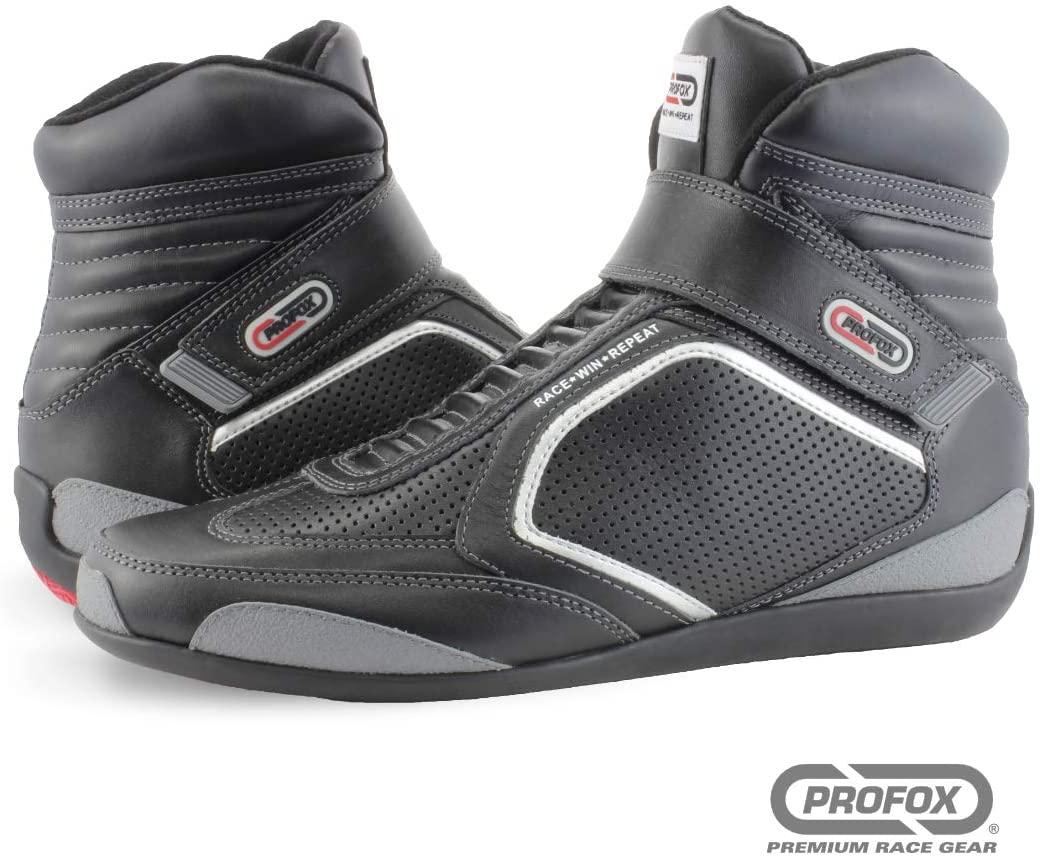 PROFOX Challenger SFI 3.3/20 Mid-top Driving Racing Shoe (Black, 10)