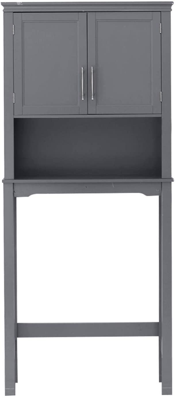 OTU FCH Two-Door Toilet Cabinet Grey,Waterproof and Moisture-Proof,Easy to Assemble