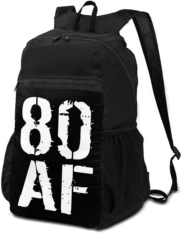 80th Birthday Classic Rockin Since 1940 Horizontal Poster Folding Backpack Folding Knapsack