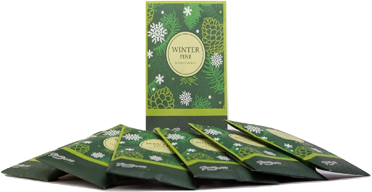 FloralSimplicity 6 Pack of Winter Pine Scented Sachets
