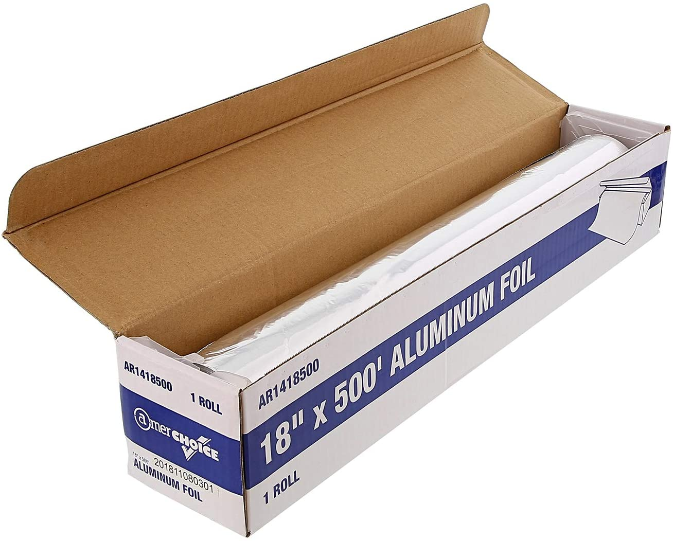 Royal Disposable Aluminum Foil Roll, 18 Inches x 500 Feet, Package of 1