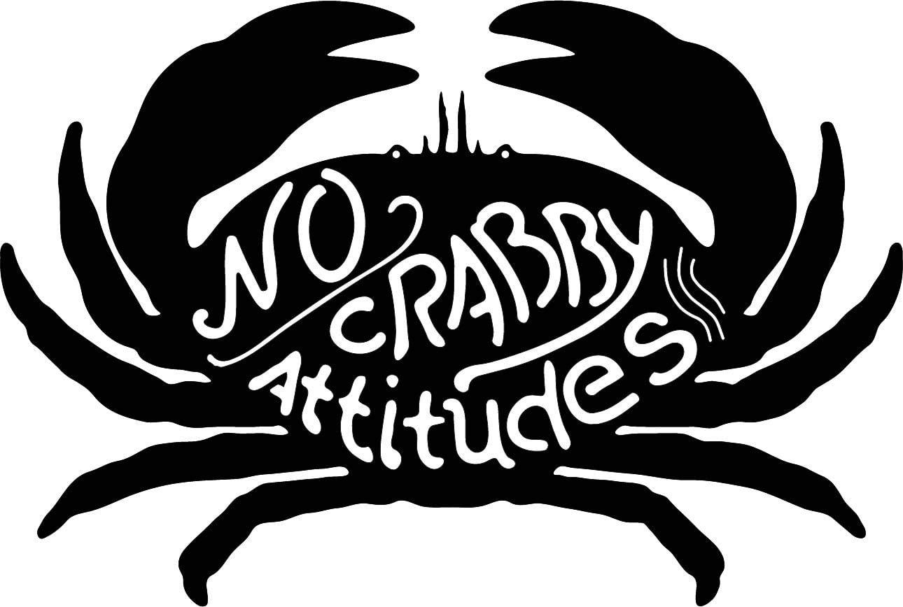 Direct Metal Works No Crabby Attitudes Crab Wall Plaque | Sea Life Metal Home Decor