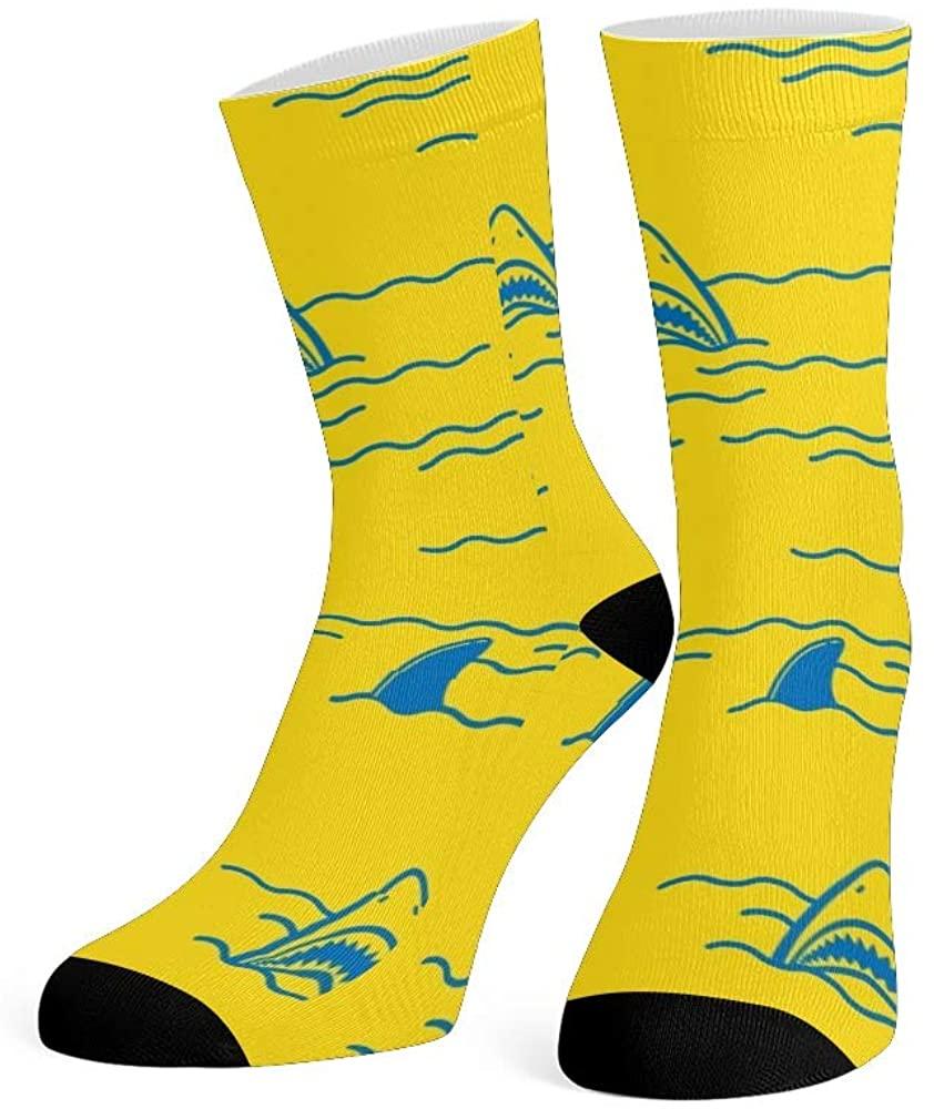 XOZOTY Custom Funny Novelty Sea Horses Unicorn Crew Socks for Mens Womens