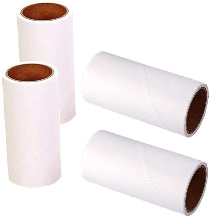 JWShang Lint Roller Refill, Sticky Roller Pet Hair Roller Refill,4 inch 240 Sheets (4Refills)