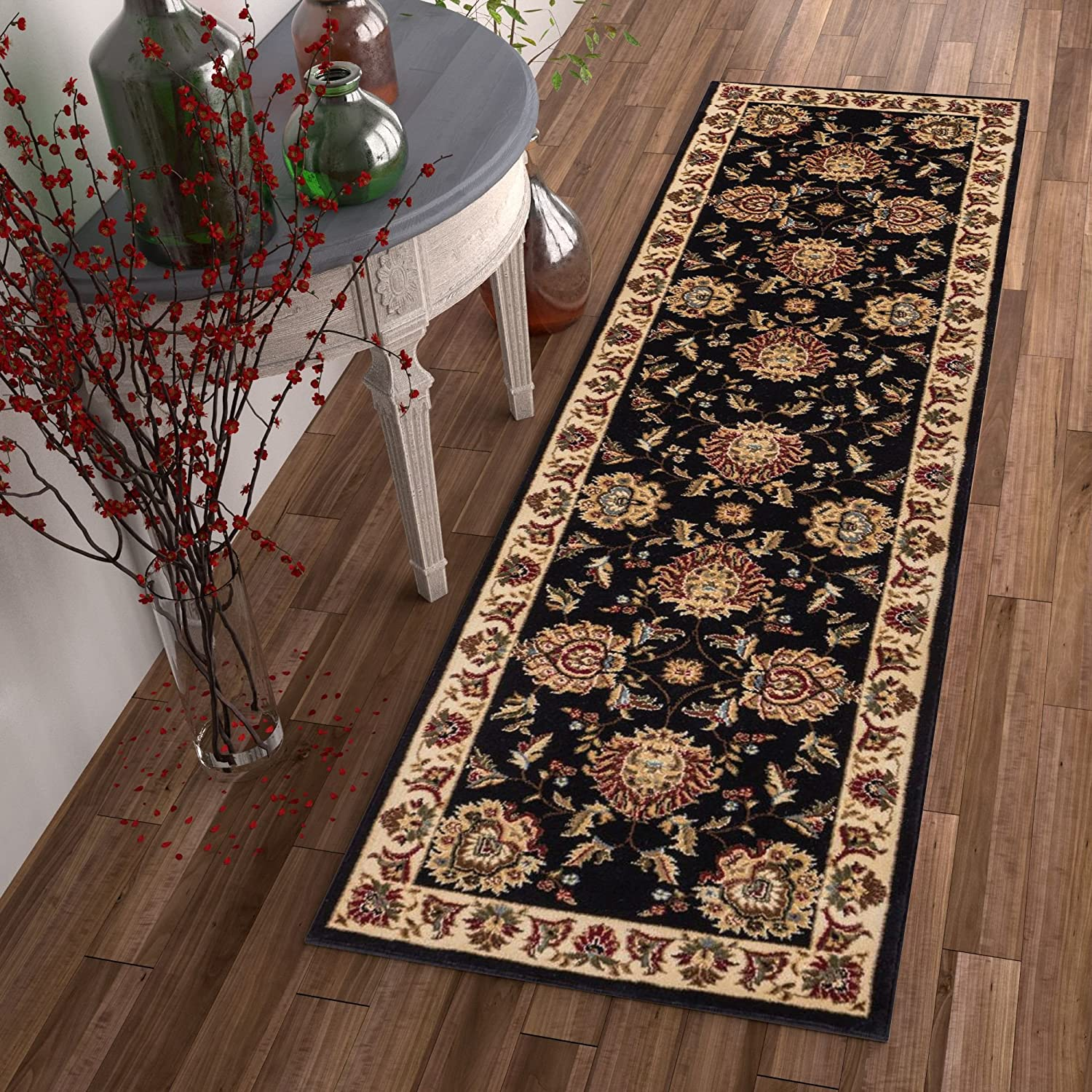 Well Woven Timeless Abbasi Black Traditional Area Rug 2'3
