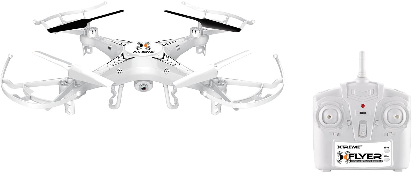 Xtreme Cables Quad Copter Drone with Video - White