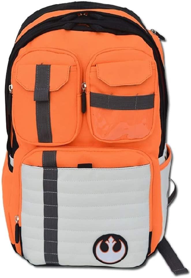 Star Wars Backpack - Laptop knapsack School Bag - Boba Fett Stormtrooper Mandalorian (Rebel Fighter)