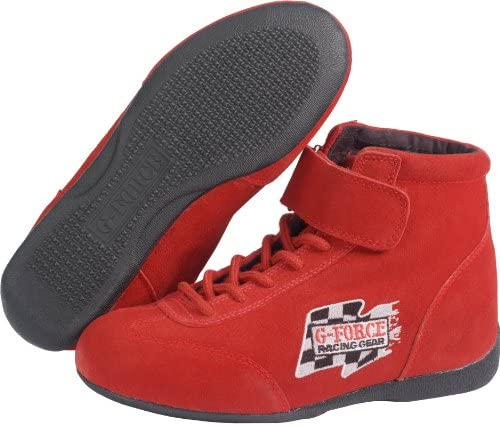 G-Force 0235120RD RaceGrip Red Size-120 Mid-Top Racing Shoes