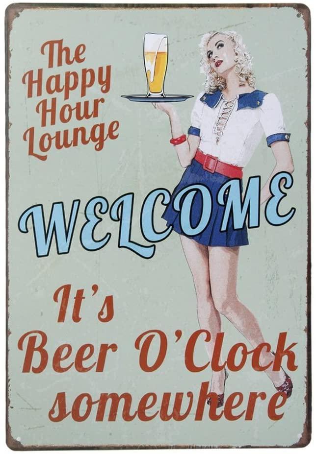 WINOMO Vintage Metal Tin Sign Plaque Wall Art Poster Cafe Bar Pub Beer