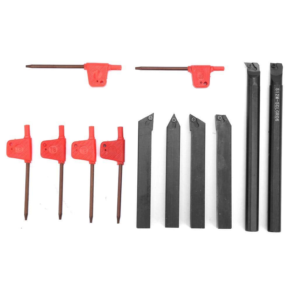 Turning Tool Holder, 6 Pcs S12K-SCDUR07 SDJCR1212H07 Lathe Boring Bar Turning Tool Holder + 6Pcs Wrench for Simple Steel Processing