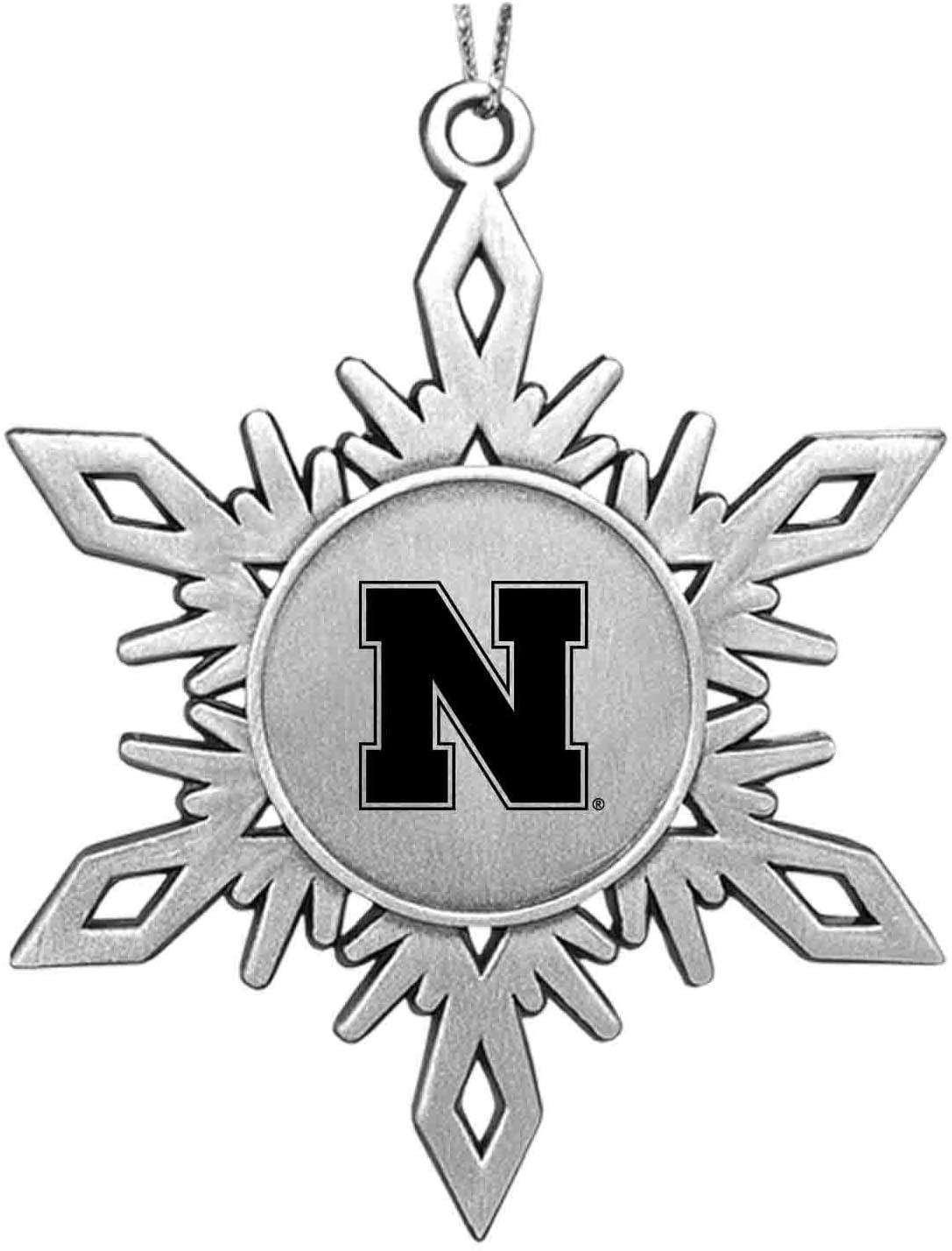 LXG, Inc. University of Nebraska Snowflake Ornament Pewter