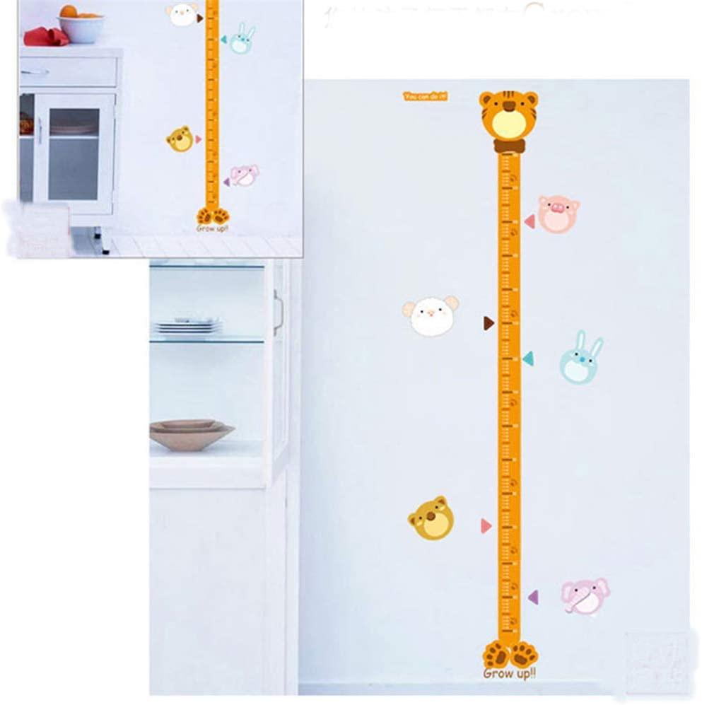 Animal Lovely Height Chart Height Ruler Wall Decal Sticker Art Vinyl Decor Removable PVC Decoration for Kids Room Nursery Living Room