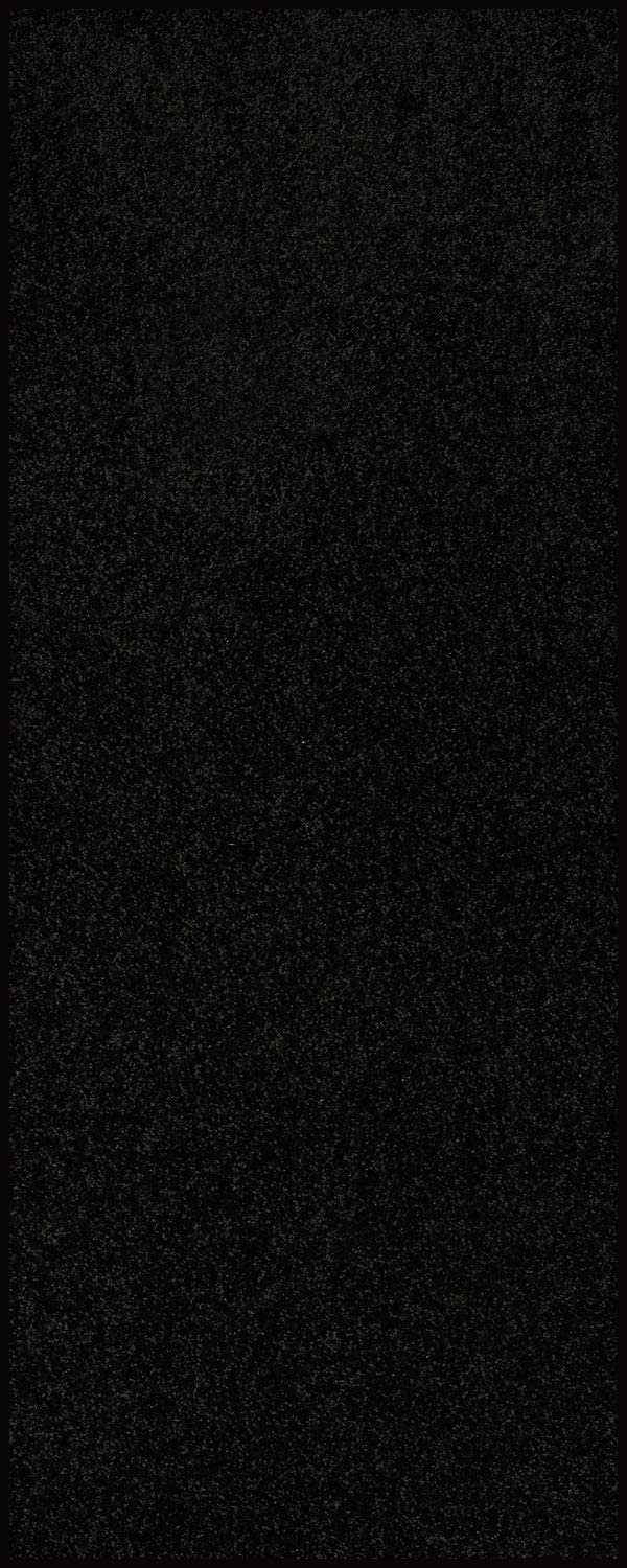 Home Queen Solid Color Custom Size Runner Area Rug Black, 2' x 6'