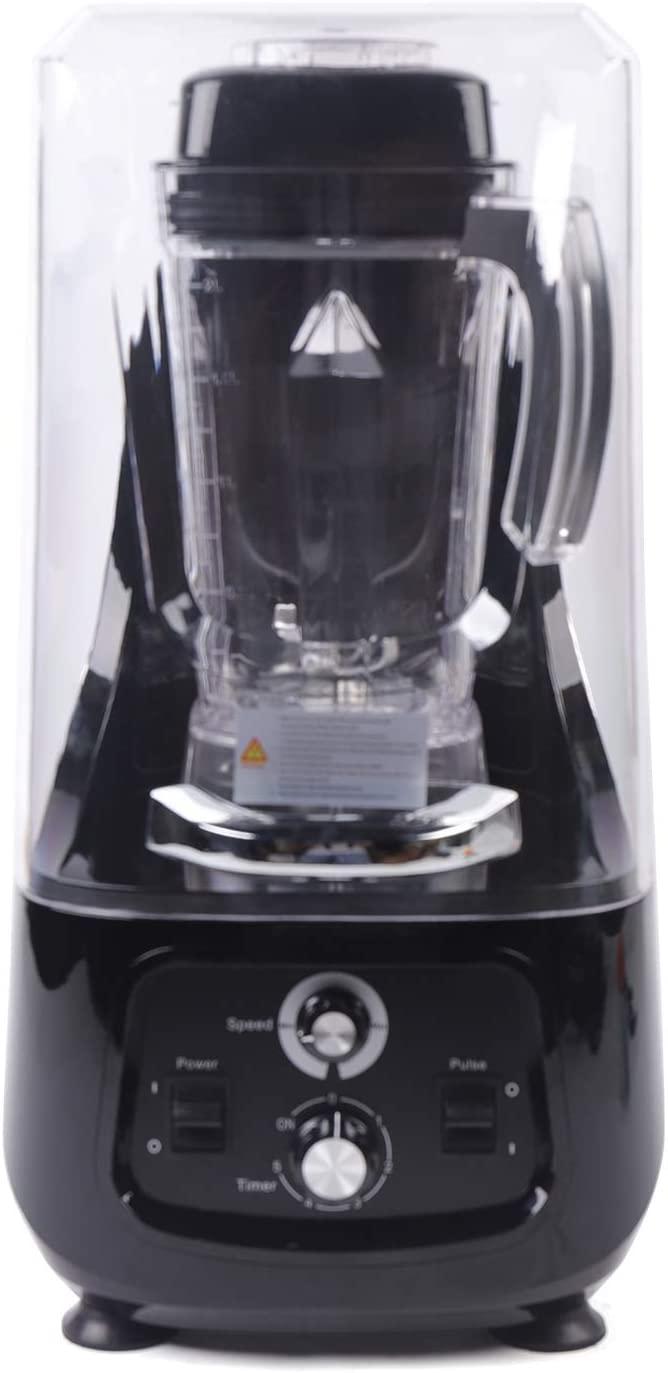 Commercial Smoothie Blenders, 2200W 2L Soundproof Adjustable Speed Fruit Blender Mixer Professional Food Mixer Juicer, Smoothie Blender for Bars, Milk Tea Shops, Restaurants, Homes