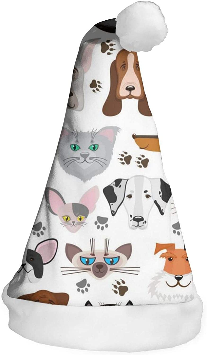 Dog and Cat Pets Animals Kids Santa Hat,New Years Eve Party Hats,Unisex Costume Accessories for Cosplay,Holiday Event,Birthday,Celebrations,Winter Holiday Party Supplies