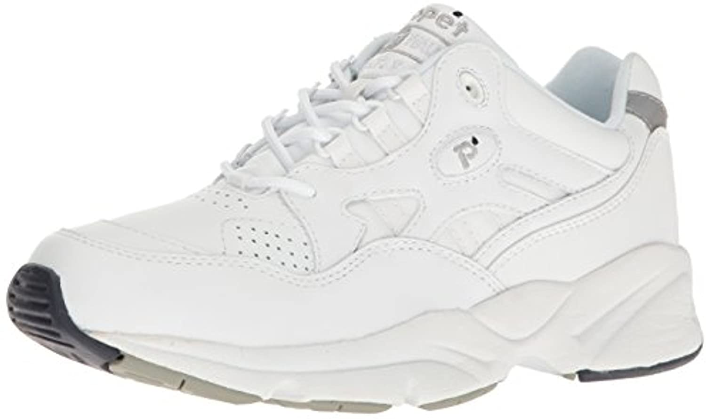 Propet Men's Stability Walker Shoe White 11 X (3E) & Oxy Cleaner Bundle