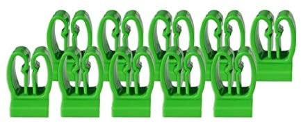 Olsa Tools Tool Holder Clips | 10 Pieces | Fits Magnetic and Wall Mount Screwdriver Organizers | Green