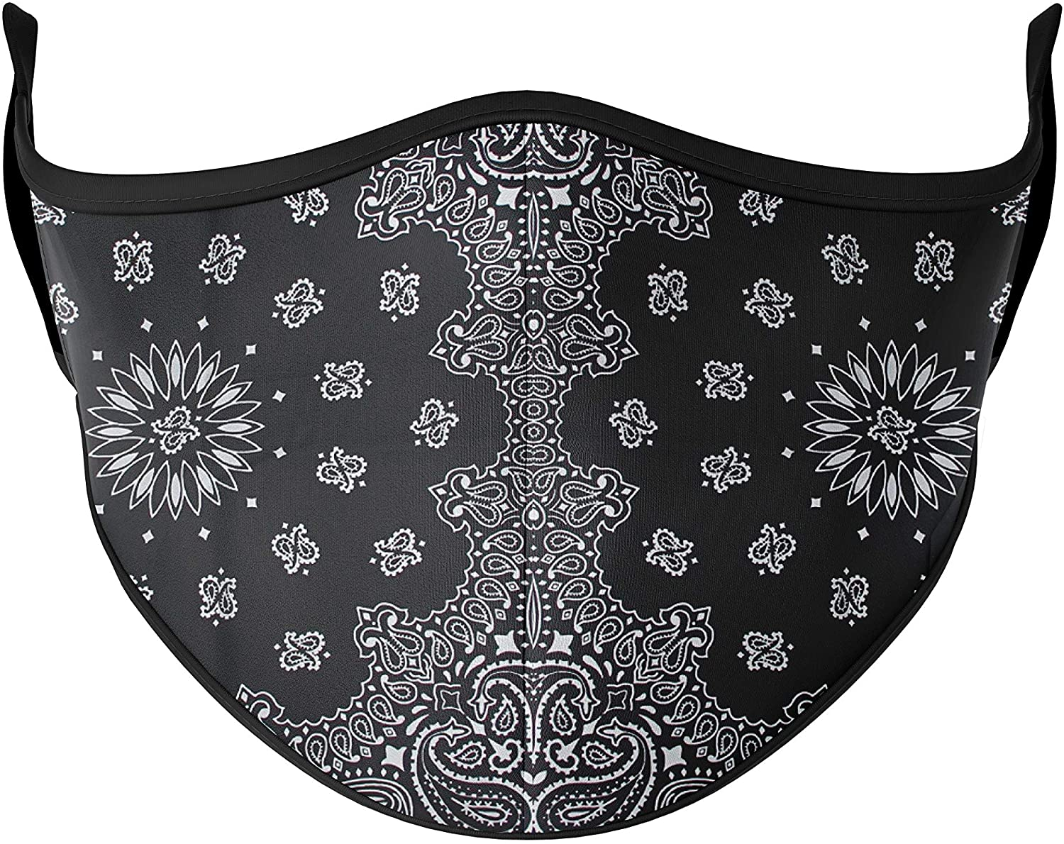 Top Trenz Reusable Face Mask Made with Stretch Cloth for Everyday Use - Indoor/Outdoor Face Cover - Bandana - One Size Fits Most Ages 10+