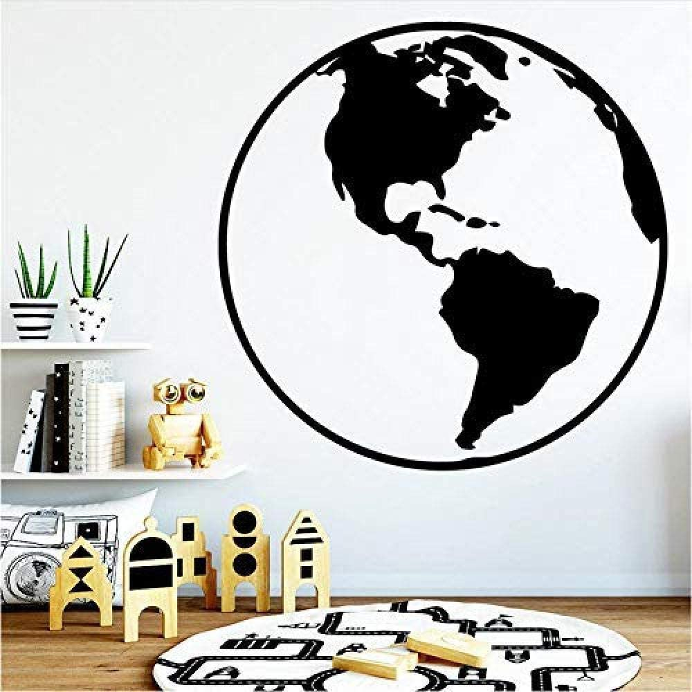 oppsq Map Wall Stickers Modern Interior Art Wall Decor for Kids Rooms DIY PVC Home Decoration Accessories 57X57Cm
