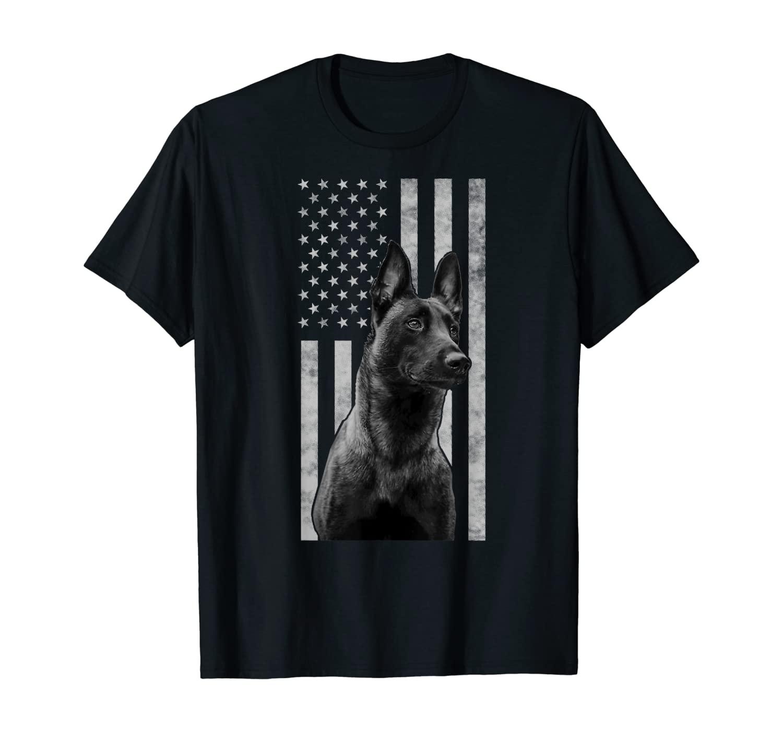 Malinois Police Dog Proud Owner USA K9 Police Canine Handler T-Shirt