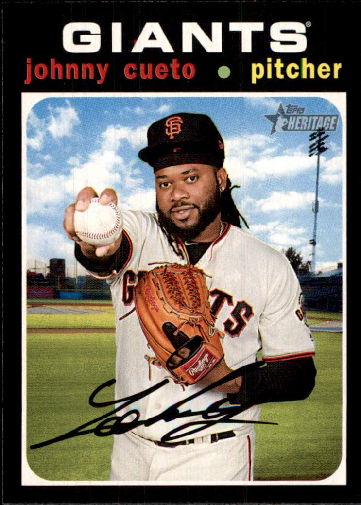 2020 Topps Heritage #16 Johnny Cueto SAN FRANCISCO GIANTS MLB Baseball Trading Card (Box10POZ)