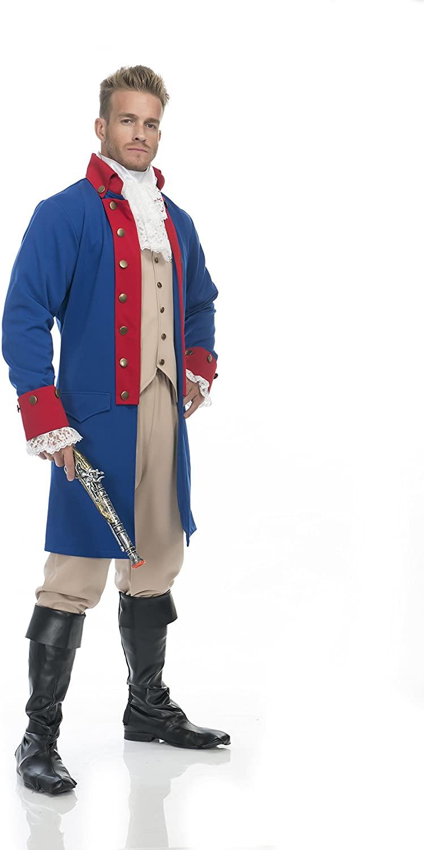Charades Men's Alexander Hamilton Costume Jacket