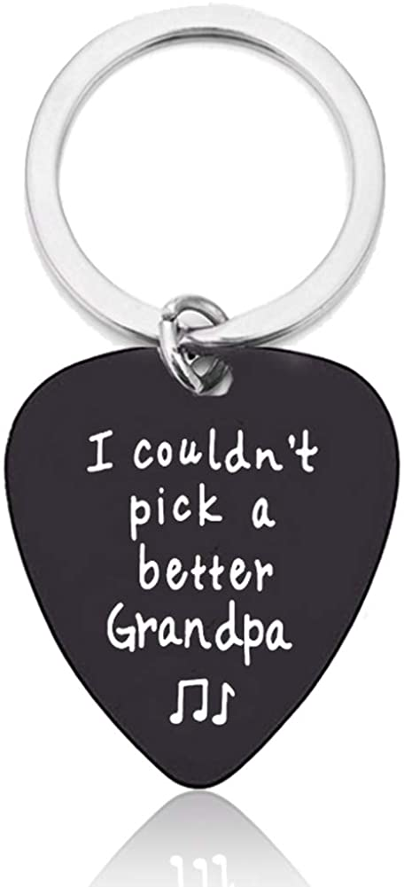 Guitar Pick Keychain Gift from Mom Dad, I couldn't Pick a Better Keychain