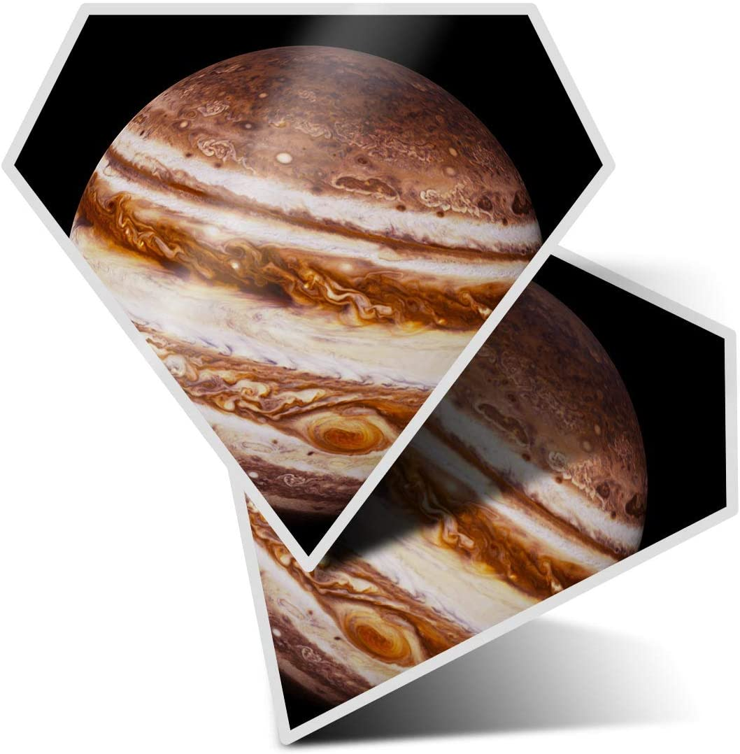 Awesome 2 x Diamond Stickers 7.5 cm - Planet Jupiter Space Solar System Fun Decals for Laptops,Tablets,Luggage,Scrap Booking,Fridges,Cool Gift #21745
