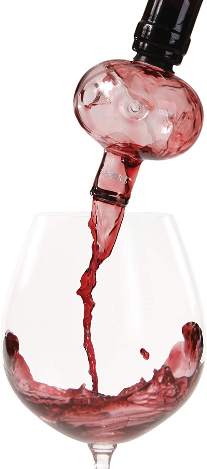 Soireehome - In Bottle Wine Aerator - Makes Your Wine Taste Better Made of Glass This Gourmet Decanter Clear Fits All Wine Bottles & Works On Red or White Wine One