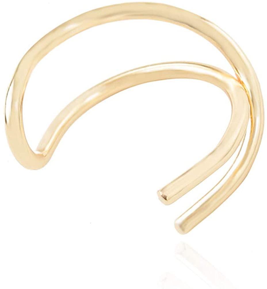 Holibanna 1Piece No Piercing Earring Criss Cross Cartilage Ear Cuff for Men Boys Women Teenagers Girls