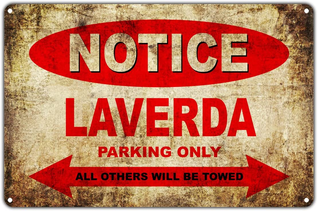 LAVERDA Motorcycles Bikes Only All Others Will Be Towed Parking Sign Vintage Retro Metal Decor Art Shop Man Cave Bar Aluminum 8