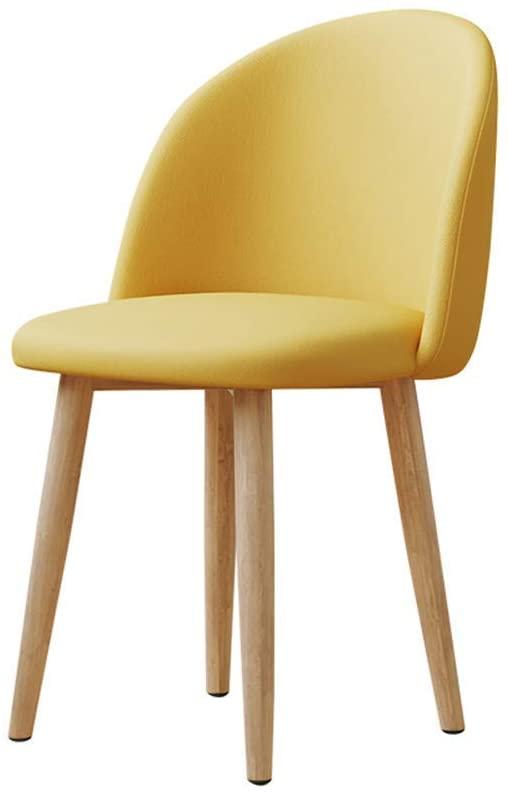 LiaoMu Counter Stool Bar Chair Modern Simple Stool,Cloth Coushion High Density Sponge Filled Cushion Wrought Iron Backrest Bar High Stool Cafe Bar Chair (Color : Yellow)