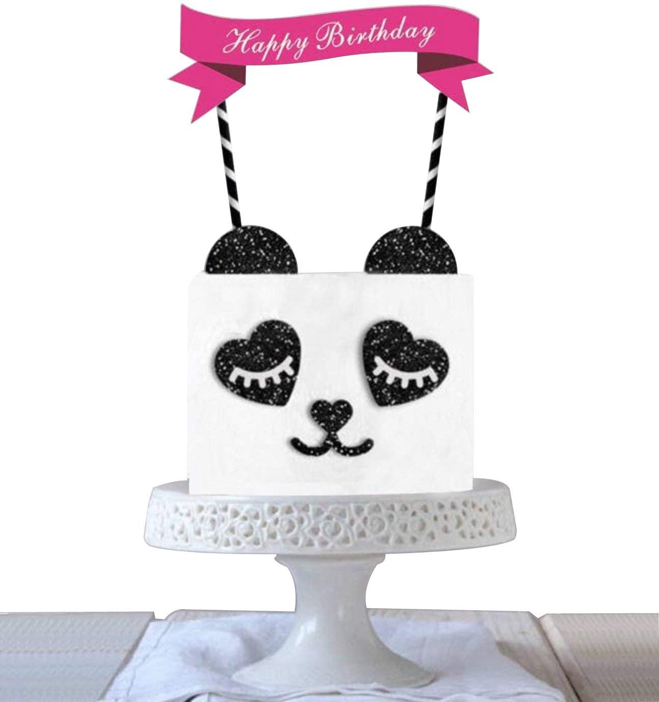 Panda Baby Cake Topper,Food Picks Baby Shower Cake Decor And Birthday Party Picks