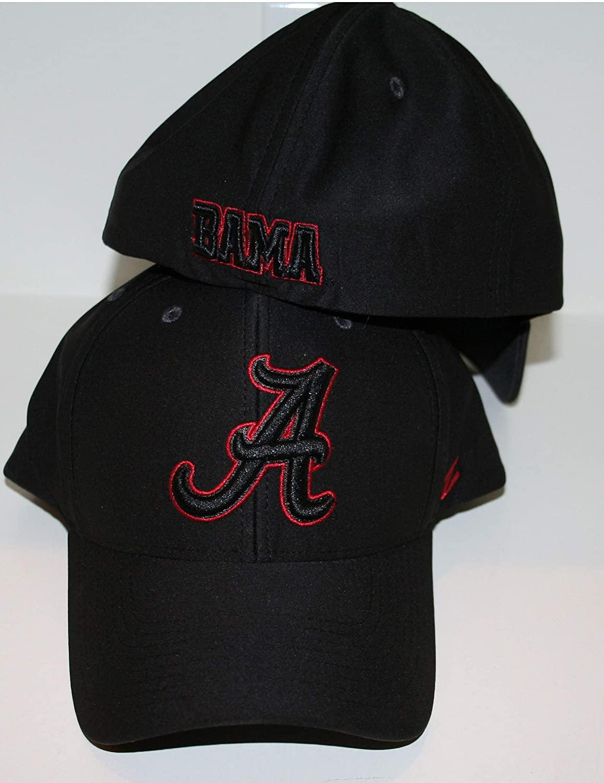 University of Alabama Crimson Tide 'Bama' Black Hyper Cool Performance Tech Performance Mens/Womens Flex Fitted Baseball Hat/Cap Size Large 7 3/8-7 1/2