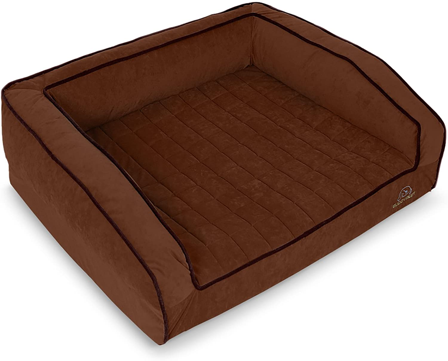 BUDDYREST, Crown Supreme Memory Foam Dog Bed, Cutting Edge True Cool Memory Foam, Scientifically Calibrated to Promote Joint Health, Handmade in The USA