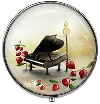 Music G-Clef - Art Photo Pill Box - Charm Pill Box - Glass Candy Box