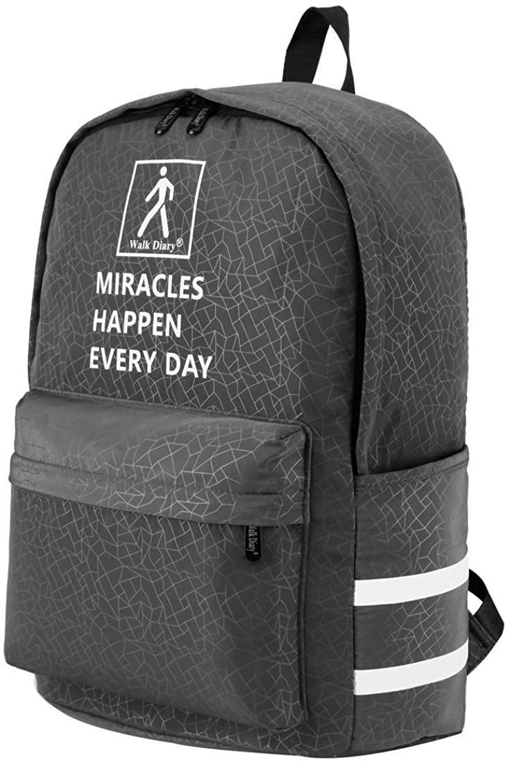 Walk Diary 2020 School Backpack Fashion Backpack Water-Repellent Bag Nylon Casual Daypack for Travel College Teens