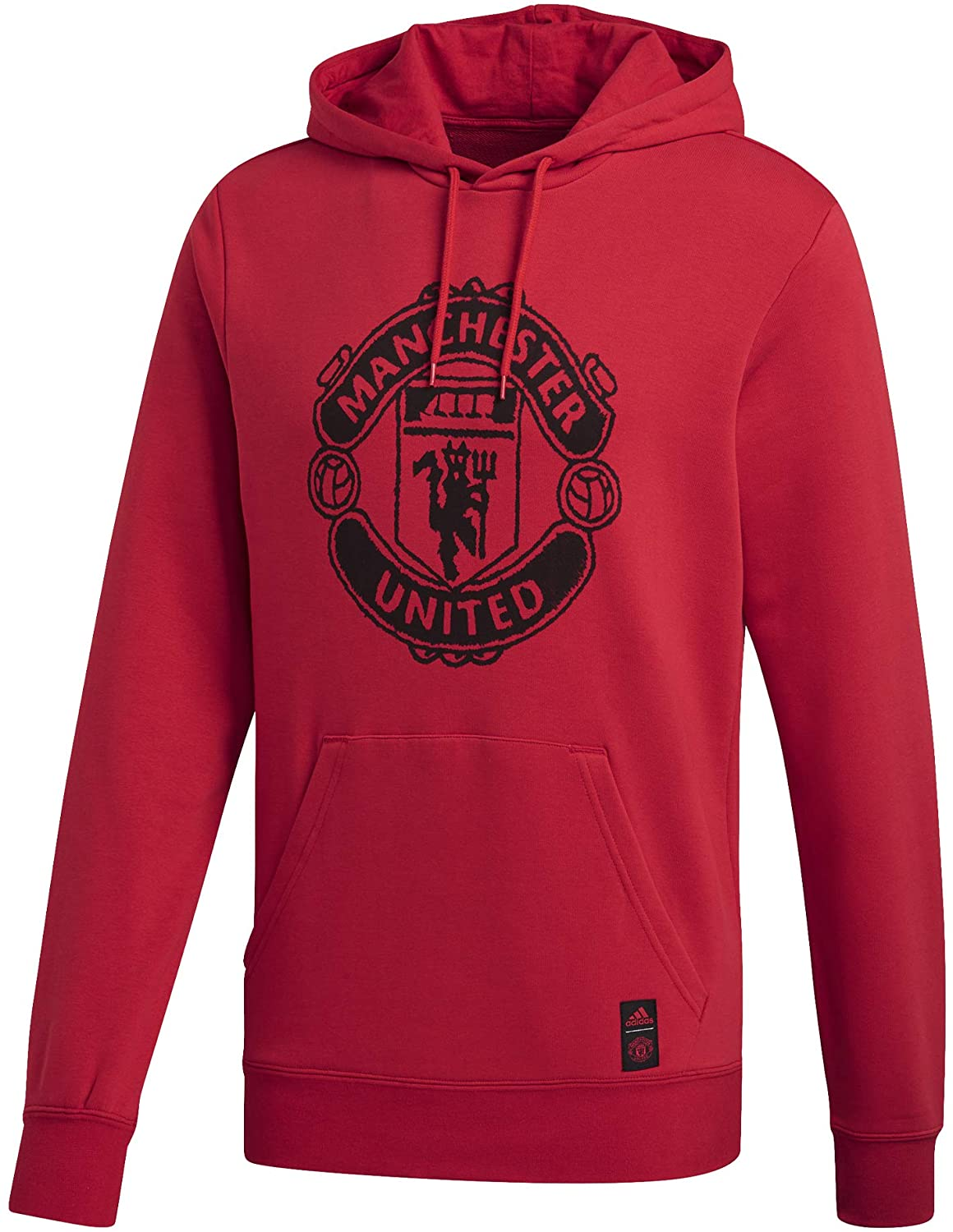 adidas 2020-2021 Man Utd DNA Hooded Top (Red)