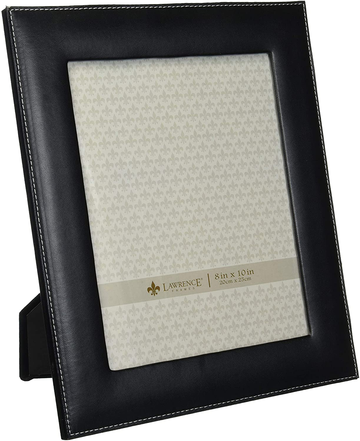 Lawrence Frames Black Leather 8 by 10 Picture Frame
