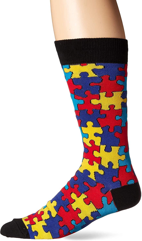 Socksmith Men's Puzzled