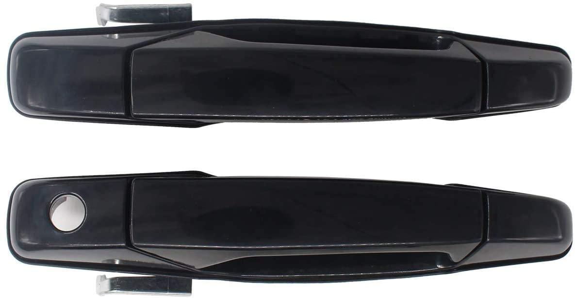Alumann Replacement for Exterior Chrome Door Handle Front Rear Driver&Passenger Side for 2007-2013 Chevy Silverado SuburbanTahoe Avalanche,GMC SierraYukon (2PCS(FR & FL))