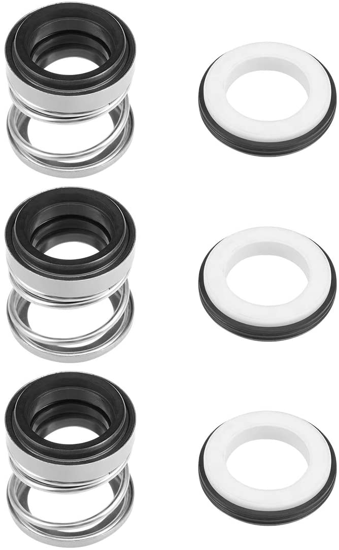 uxcell Mechanical Shaft Seal 16mm ID Replacement for Pool Spa Pump 3pcs 108-16