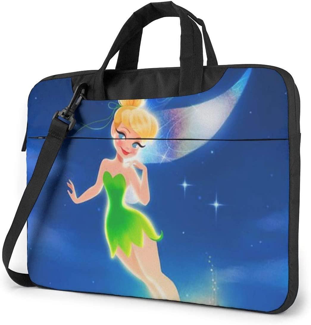 14 Inch Laptop Bag Tinkerbell Flying Laptop Briefcase Shoulder Messenger Bag Case Sleeve
