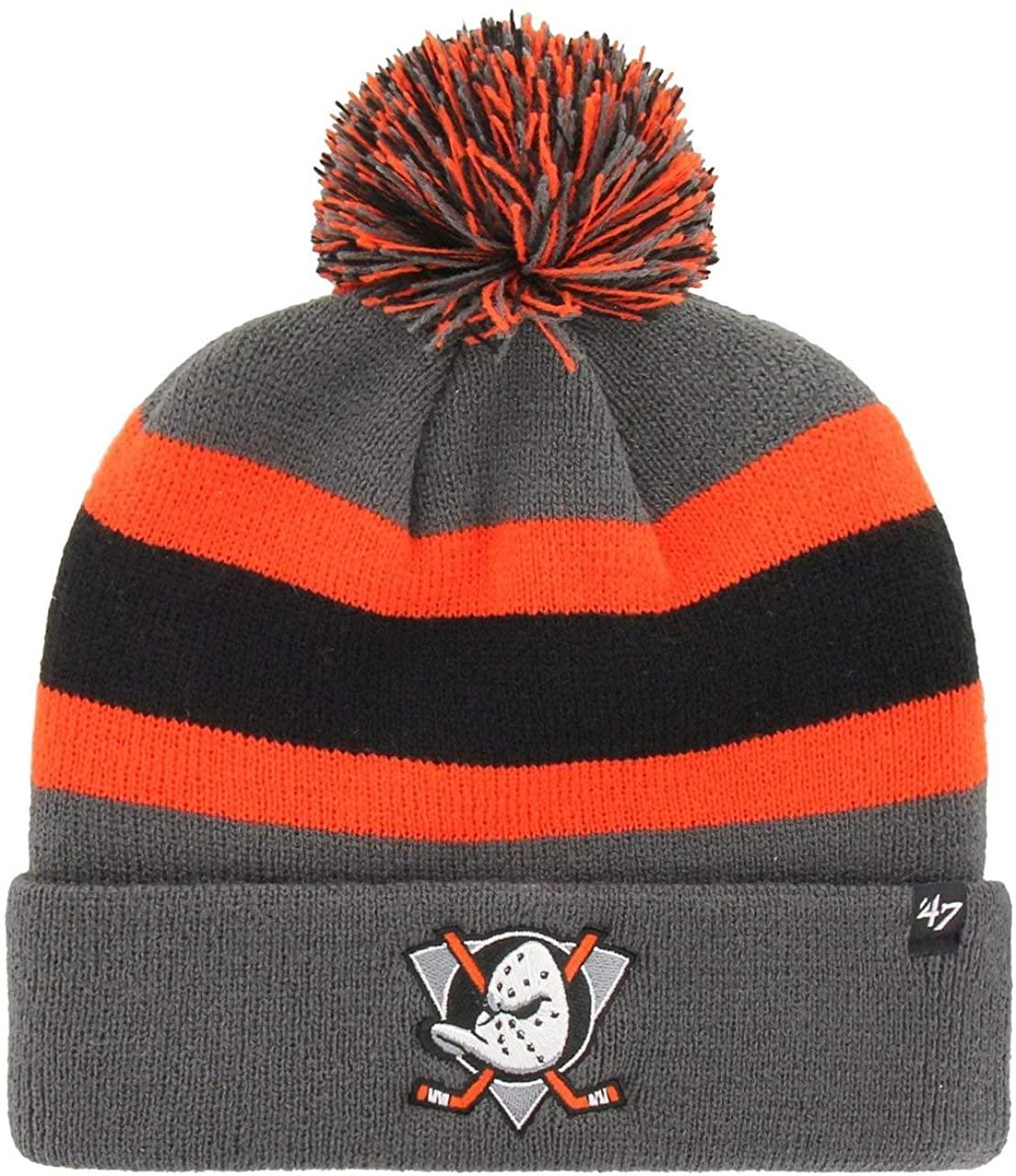 '47 Brand Anaheim Ducks NHL Charcoal Breakaway Cuff Knit Beany Hat One Size Mütze Forty Seven