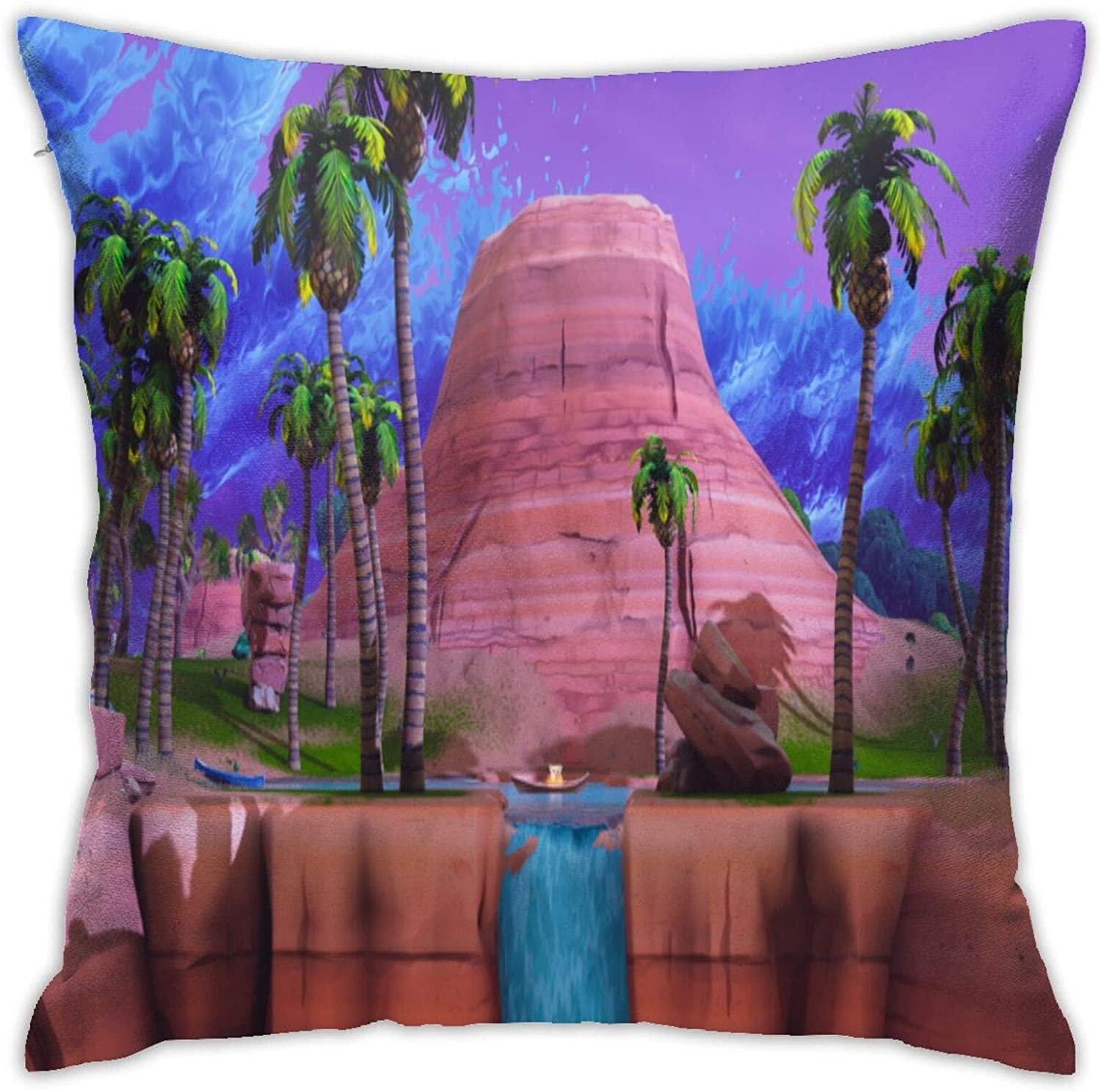 Flax Throw Pillow Cover 416 Battle Royale Shooting Game 18x18 Inches Anime Throw Pillow Covers Exquisite Pillo Wcase with Invisible Zipper Pillowcase Home Decor