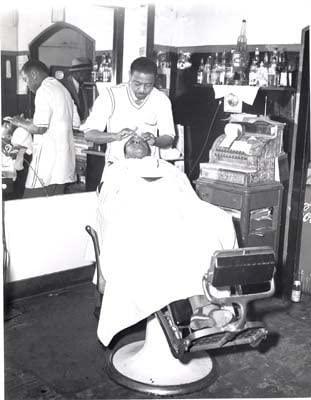 Photo Black Owned History Barber Shop c1935